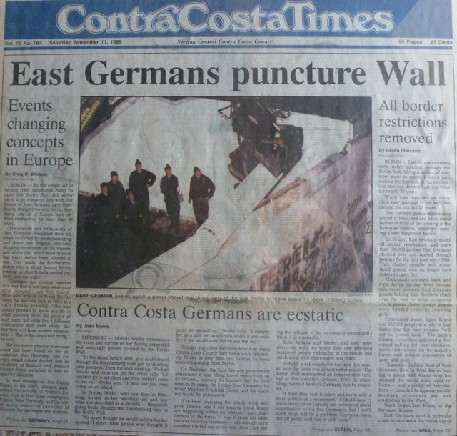 Fall of berlin wall germany